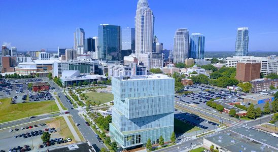 UNC Charlotte Center City Aerial View